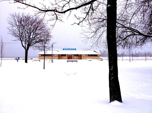 Woodbine Bathing Station in Winter