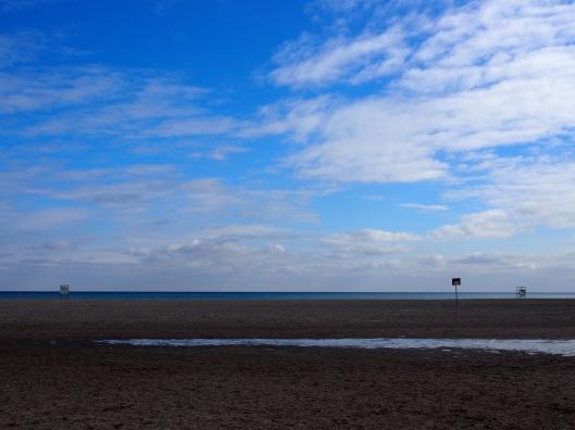 Blue Skies at the Beach